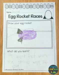 Easter Egg Rocket Races page