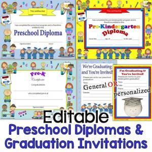 Preschool Diplomas & Graduation Invitations