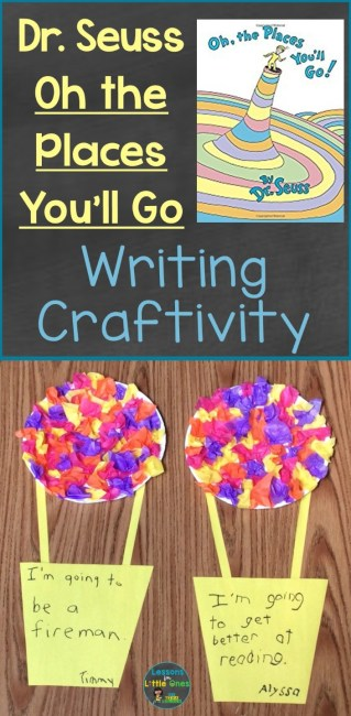 Dr. Seuss Oh the Places You'll Go writing craft
