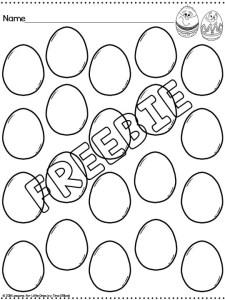 Easter Egg Freebie
