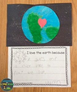 earth day craft & writing prompt