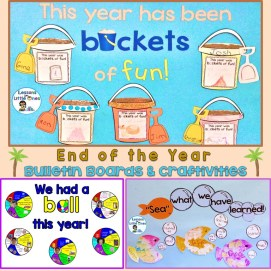 end of the year bulletin boards & craftivities