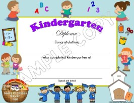 Kindergarten Diploma Christian editable