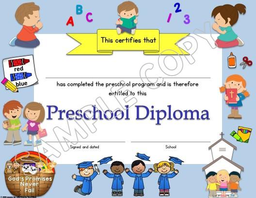 Preschool Diploma Christian