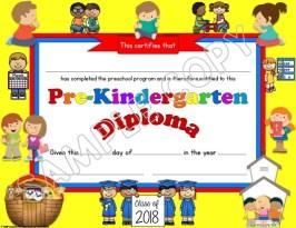 Preschool Diploma religious