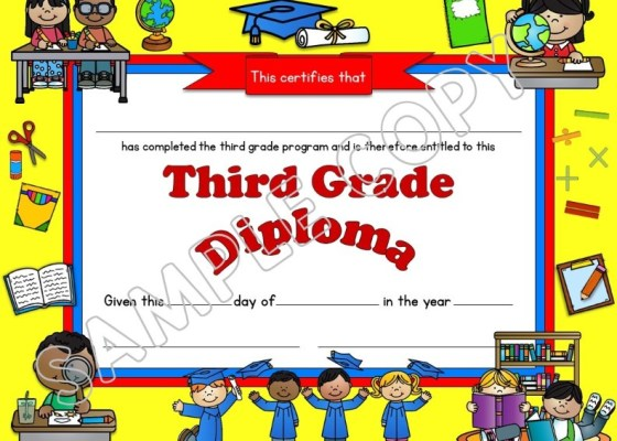 diplomas (editable) for elementary students