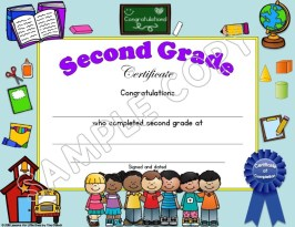 end of the year certificate elementary