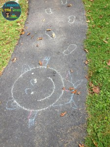 end of the year activity with sidewalk chalk