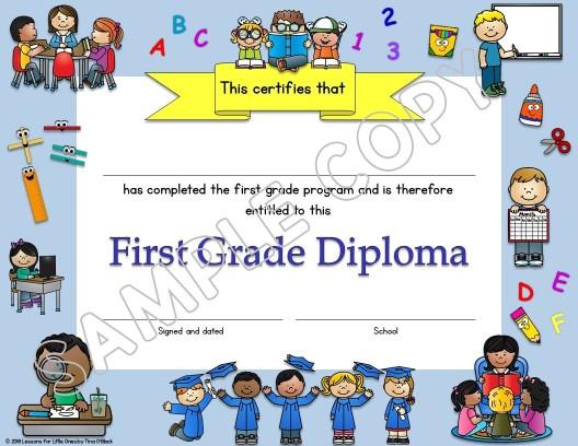 first grade diploma
