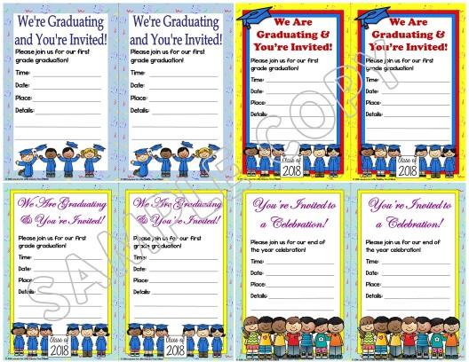 first grade graduation invitations