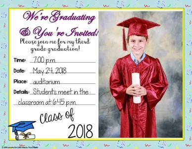 graduation invitation with photograph