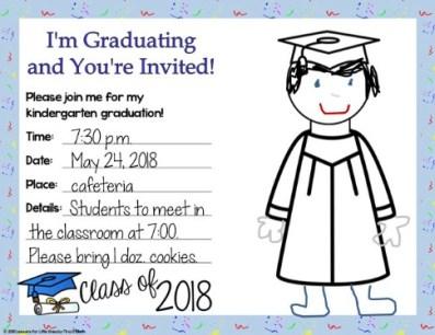 kindergarten editable graduation invitation