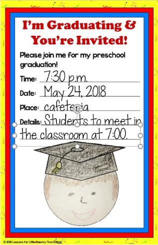 preschool graduation invitations editable