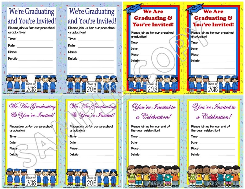 preschool graduation invitations editable