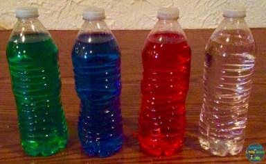 bottles for sun light box