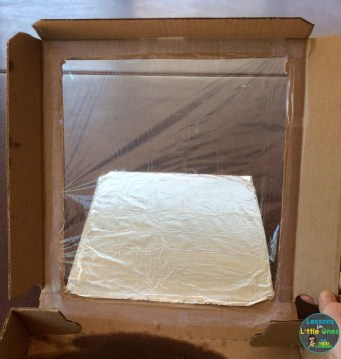 making a solar oven from a pizza box