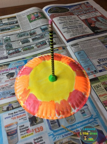 painted sundial paper plate