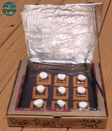 solar oven experiment smores