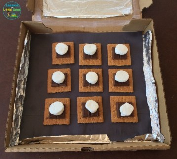solar oven s'mores sun science experiment