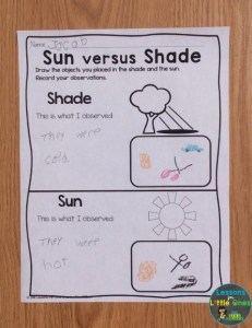 sun and shade experiment page