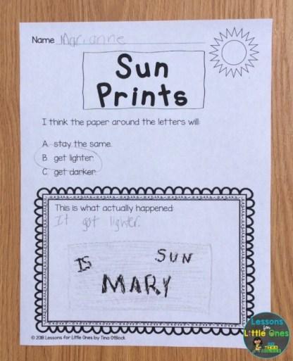 sun prints page