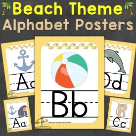 Beach Theme Alphabet Posters