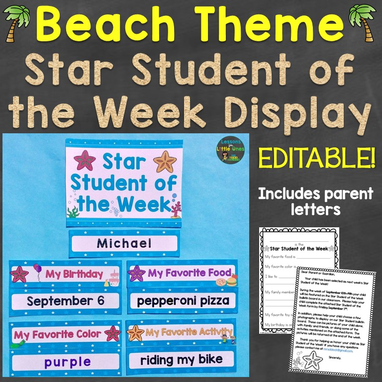 Beach Theme Star Student of the Week