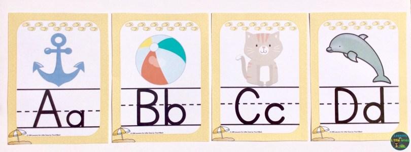 alphabet posters beach theme