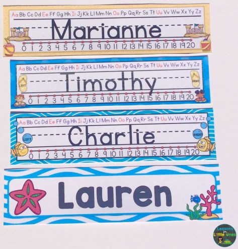beach theme desk name plates