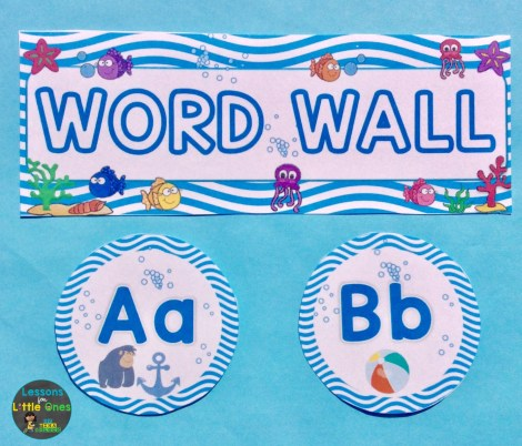 beach theme word wall
