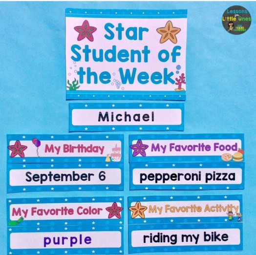 beach themed star student of the week