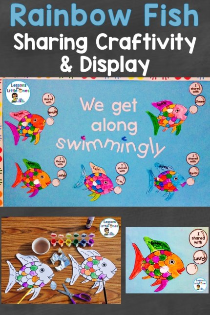 Rainbow Fish sharing craft activity & classroom display