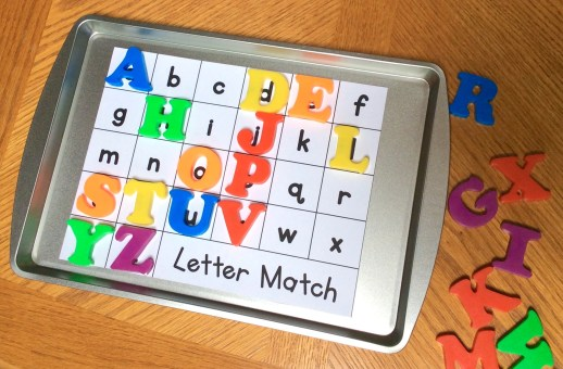 alphabet magnetic letters uppercase lowercase practice and assessment