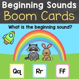 beginning sounds phonics boom cards