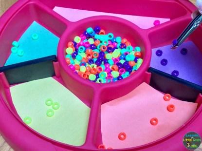 color sorting tray tweezers 2