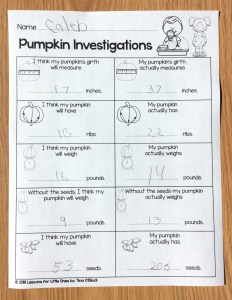 Pumpkin Investigations pages
