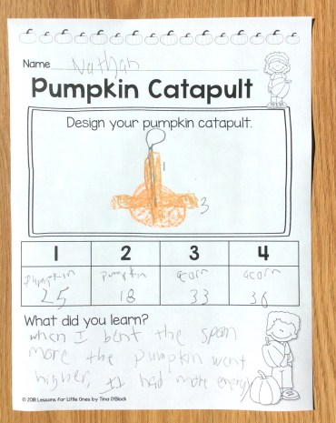 pumpkin catapult recording page