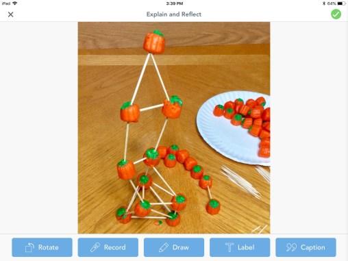 pumpkin tower STEM challenge Seesaw app
