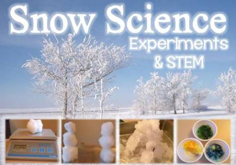 snow science experiments & STEM