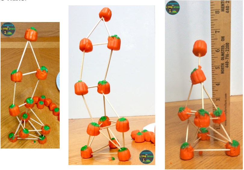 pumpkin tower STEM challenge