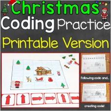 coding practice print version Christmas