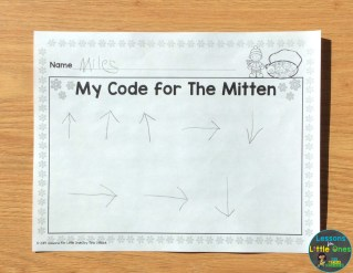 The Mitten coding activity page