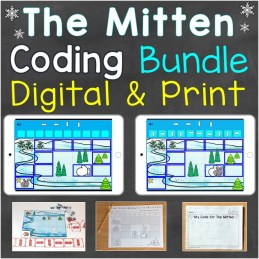 The Mitten coding practice bundle