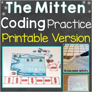 The Mitten coding practice print version