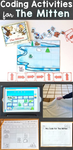 coding activities for kids The Mitten by Jan Brett