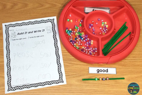 sight words practice activities sorting tray