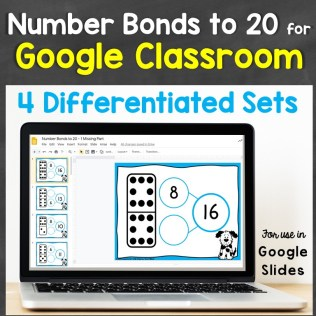 number bonds to 20 or Google Classroom