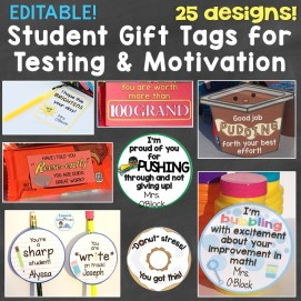 Student Gift Tags for Testing, Motivation