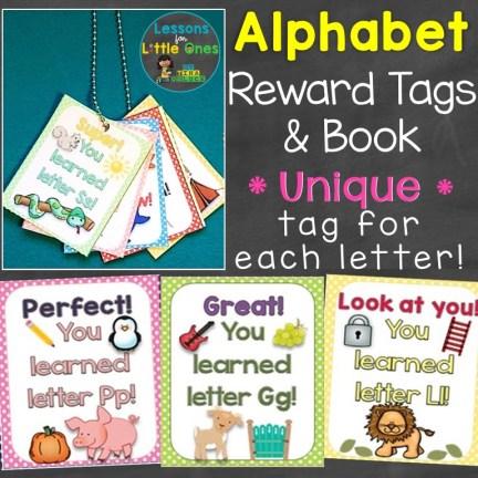 alphabet reward tags and book