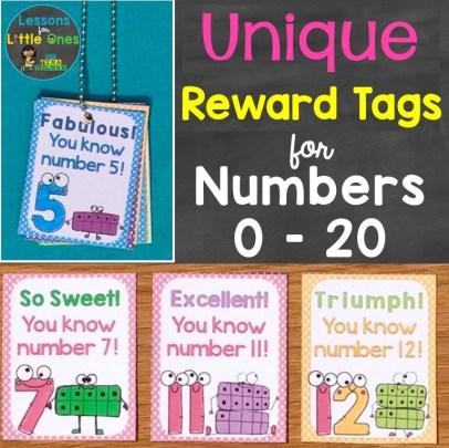 Unique Reward Tags for Numbers 0-20